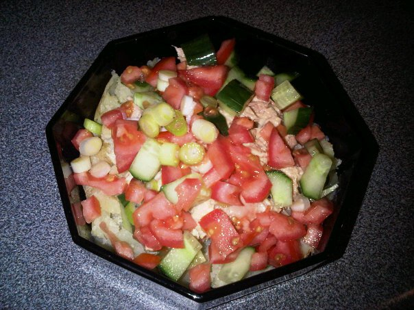Baked Potato With Tuna Apple And Sambles 1 Portion