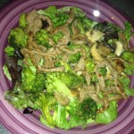broccoli and beef salad